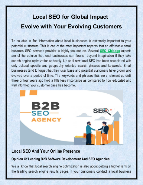 Local SEO for Global Impact Evolve With Your Evolving Customers