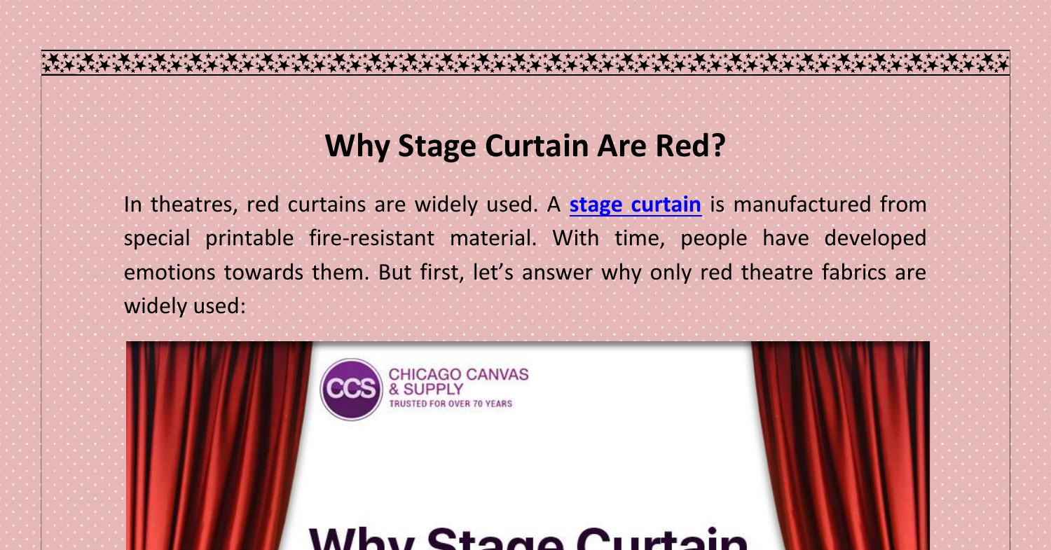 Why Stage Curtain Are Red.docx | DocDroid