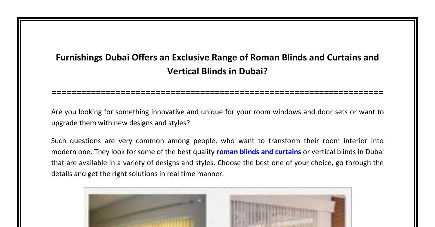Furnishings Dubai Offers an Exclusive Range of Roman Blinds and Curtains and Vertical Blinds in Dubai.pdf | DocDroid